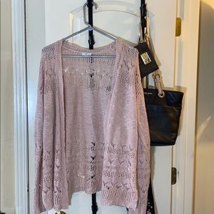 Charming Charlie Pink Light Weight Cardigan